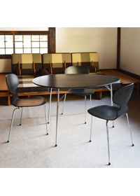 ♯2815A/B/C/D Egg table and Ant chair